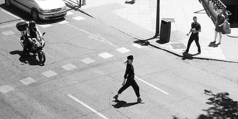 White, Black-and-white, Street, Monochrome, Urban area, Pedestrian, Monochrome photography, Snapshot, Road, Public space,
