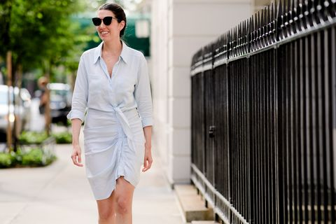 White, Clothing, Photograph, Eyewear, Street fashion, Fashion, Shorts, Sunglasses, Shoulder, Denim,