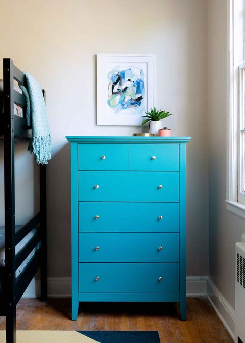 Chest of drawers, Furniture, Drawer, Blue, Chiffonier, Room, Turquoise, Dresser, Changing table, Aqua,