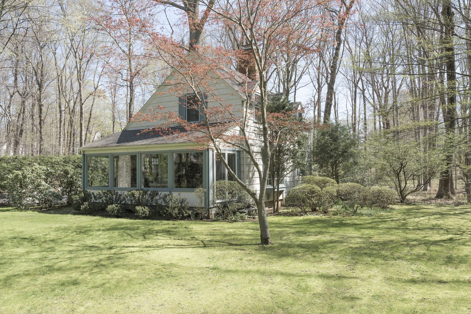 The 2,400-square-foot cottage is complete with its own garage.