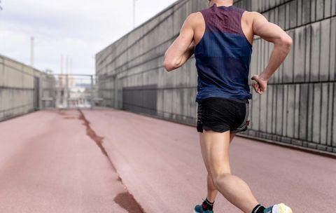 hombre, running, compressport