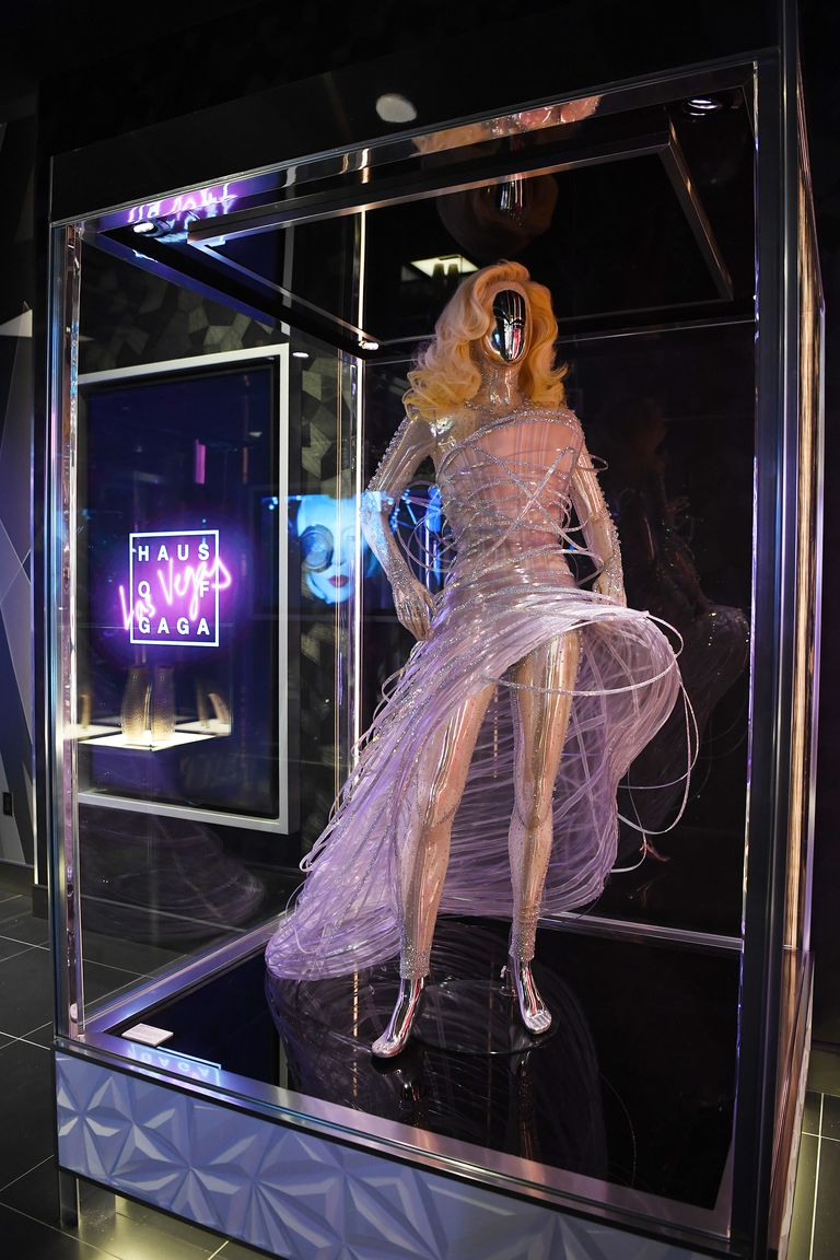 This Armani Prive dress was worn by Gaga to the Grammys in 2010.
