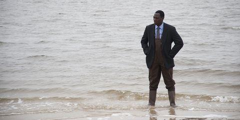 Suit, Photograph, Water, Beach, Sea, Formal wear, Standing, Ocean, Wave, Fun,