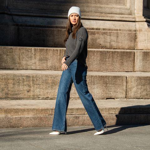 Jeans, Street fashion, Beanie, Denim, Standing, Fashion, Cap, Headgear, Photography, Sitting,