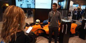 McLaren F1 driverLando Norris visits CES