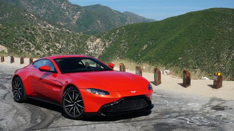 the aston martin vantage feels at home on mountain roads
