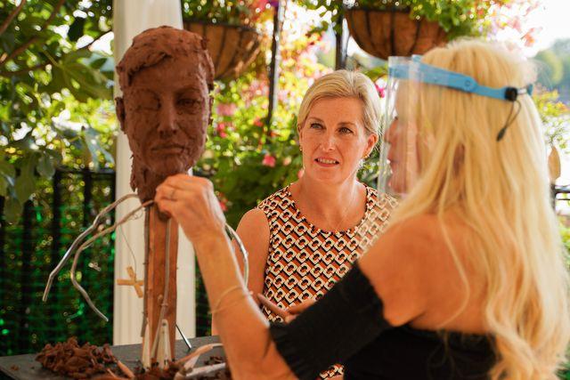 countess of wessex sophie portrait sculpture