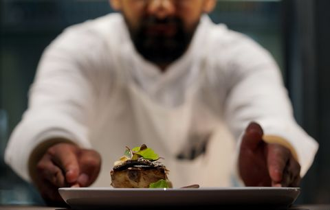 Food, Chef, Dish, Cuisine, Comfort food, Culinary art, Cook, À la carte food, Restaurant, Recipe,