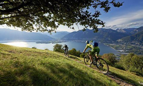 ticino, zwitserland, mountainbike