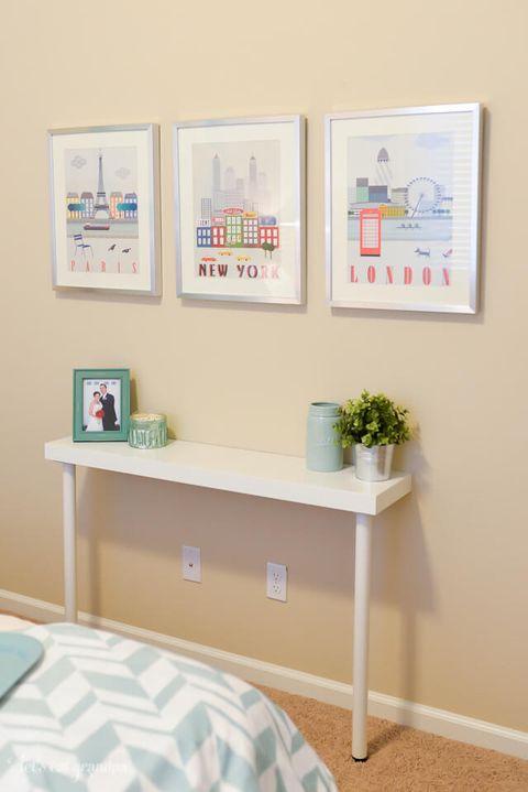 Shelf, Furniture, Room, Wall, Table, Interior design, Shelving, Desk, Floor, Office,
