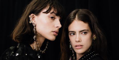 Hair, Ear, Nose, Mouth, Jewellery, Hairstyle, Eye, Earrings, Eyelash, Fashion accessory,