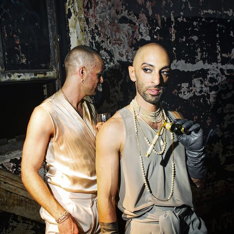 Jeremy Anderson and Gabriel Hendifar of Apparatus at a party for their Interlude collection.