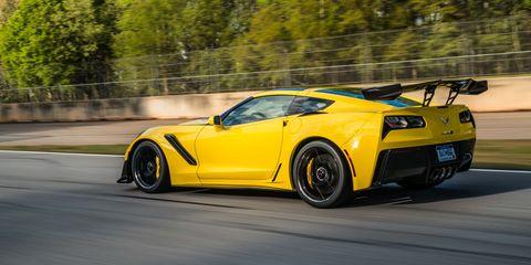 Land vehicle, Vehicle, Car, Sports car, Automotive design, Yellow, Supercar, Performance car, Corvette stingray, Chevrolet corvette c6 zr1,