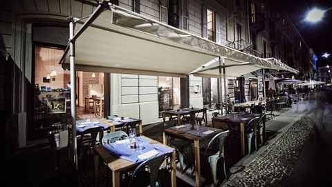 Night, Restaurant, Building, Architecture, Room, Table, Street, Photography, City, Window,