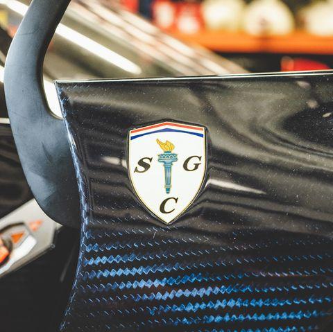 Scuderia Cameron Glickenhaus emblem on SCG 003