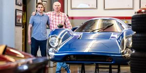 Jesse and James Glickenhaus with Lola T-70 at SCG shop