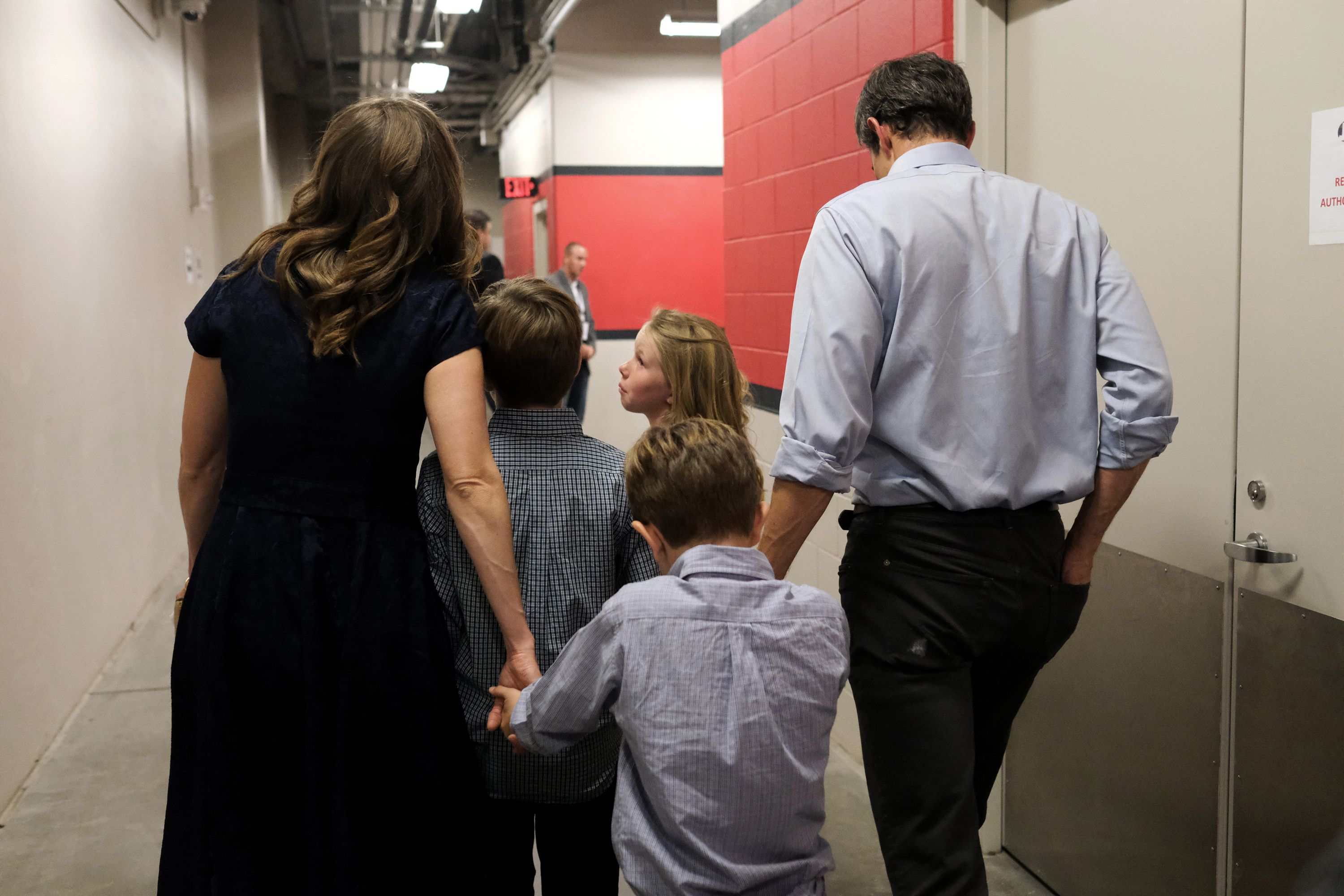 We were at the candidate's side during the final moments of his historic campaign.