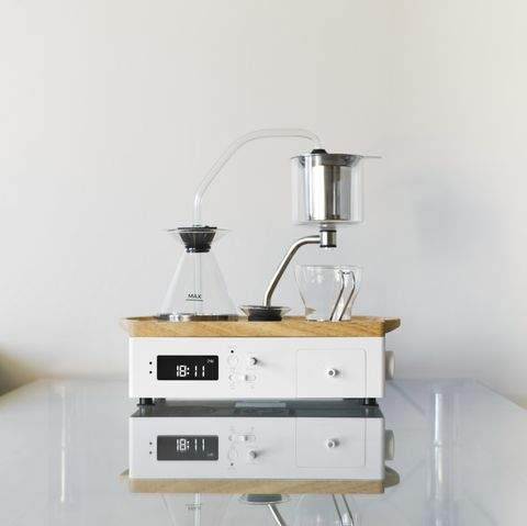 barisieur immersion edition coffee maker and alarm clock by joy resolve
