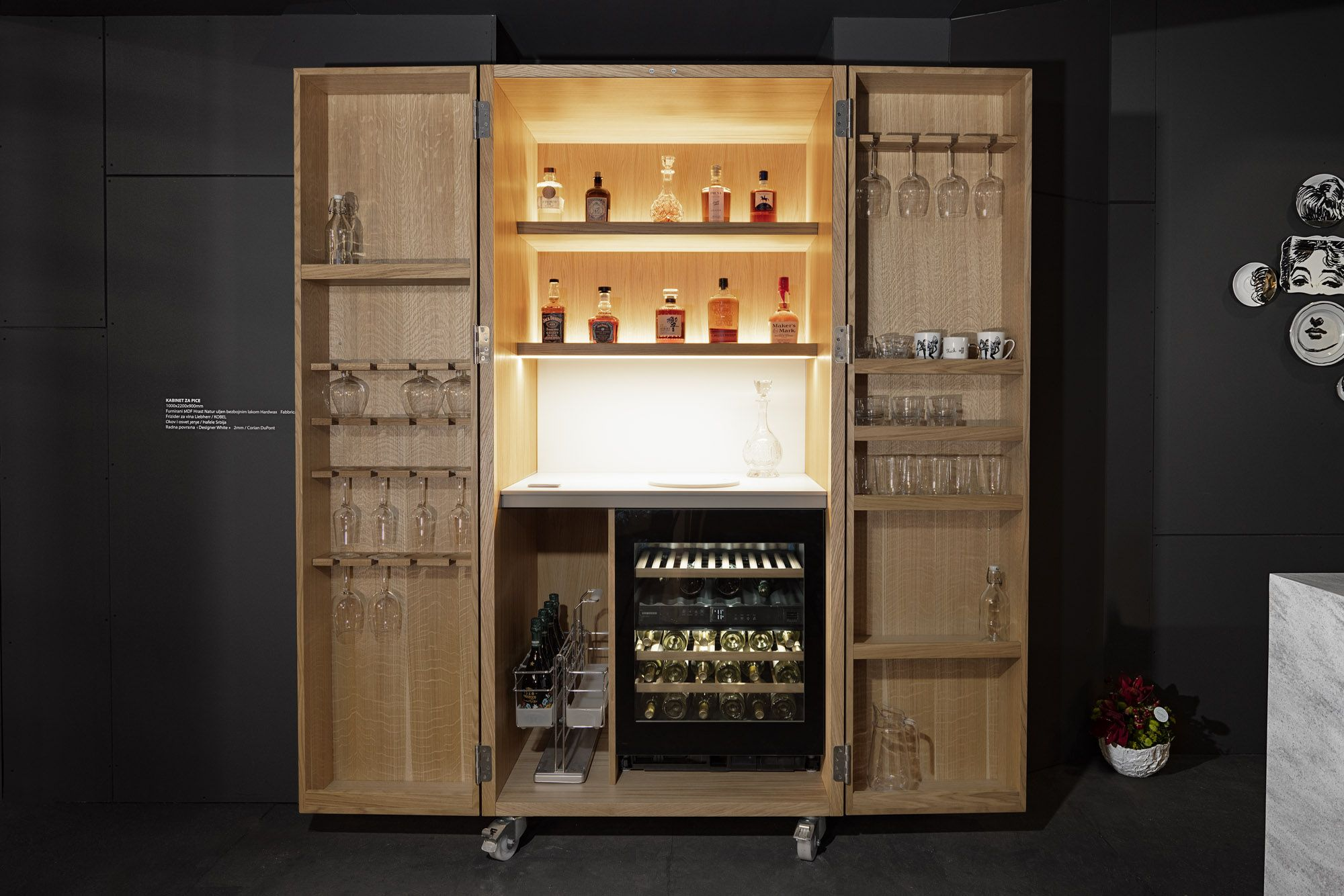 Dsignedby S Drinks Cabinet Makes Wine Storage Cool With A Built In Fridge