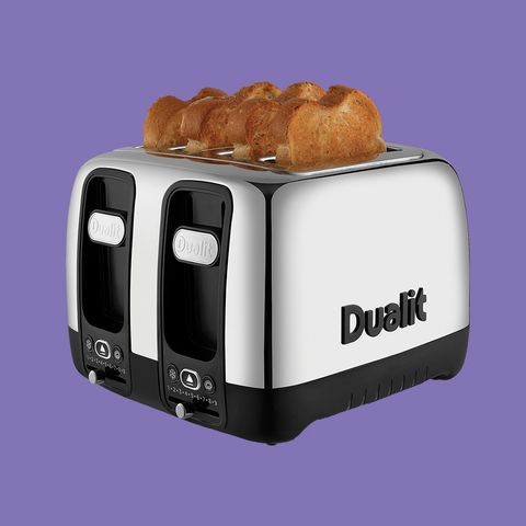 Small appliance, Toaster, Home appliance, Sandwich toaster, Bread, Toast, Baked goods,