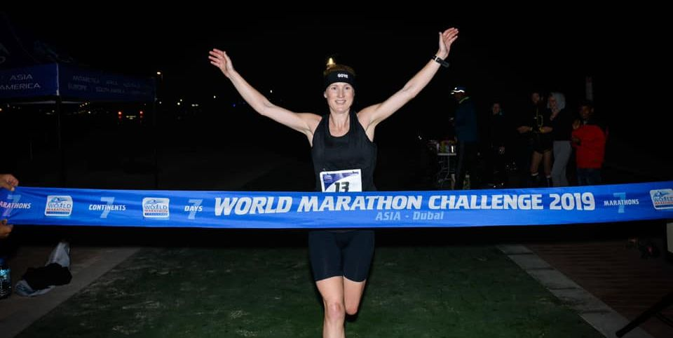 Susannah Gill breaks world record, running 7 marathons in 7 days on 7 continents
