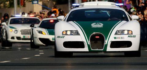 uae dubai police cars bugatti