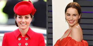 The Duchess of Cambridge and Emilia Clarke