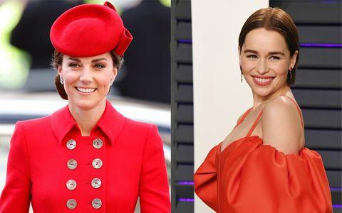 The Duchess of Cambridge and Emilia Clarke
