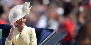 Duchess of Cambridge arrives at Buckingham Palace