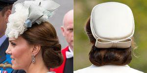 Duchess of Cambridge wearing a hairnet
