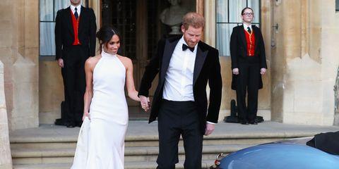Duchess Meghan Prince Harry Stella McCartney Windsor reception royal wedding