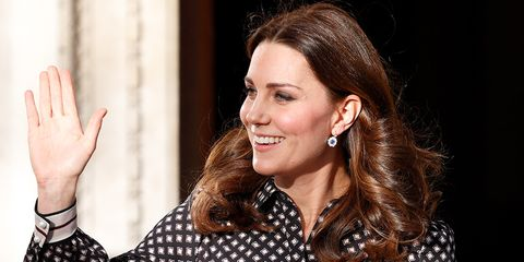 Duchess of Cambridge waving