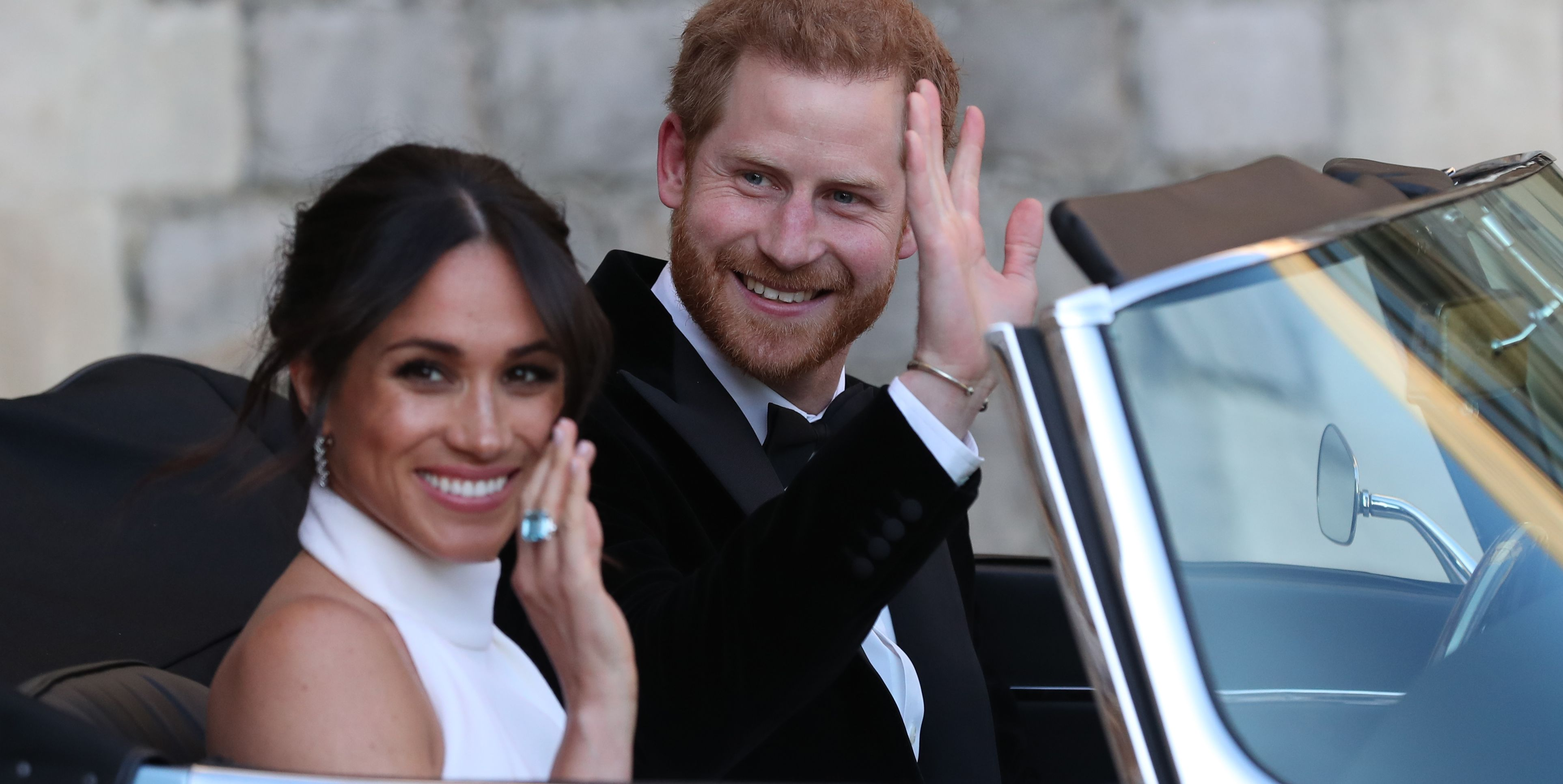 Meghan & Harry Share a Rare Photo from Their Reception for Their Christmas Card