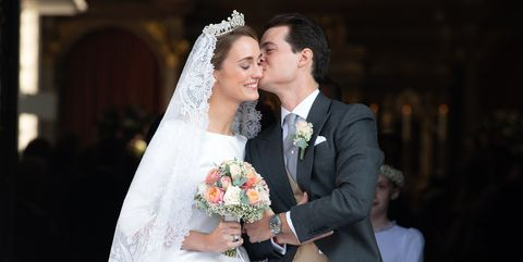 Wedding of Duchess Sophie Of Wurttemberg And Count Maximilian Of Andigne At Tegernsee Castle