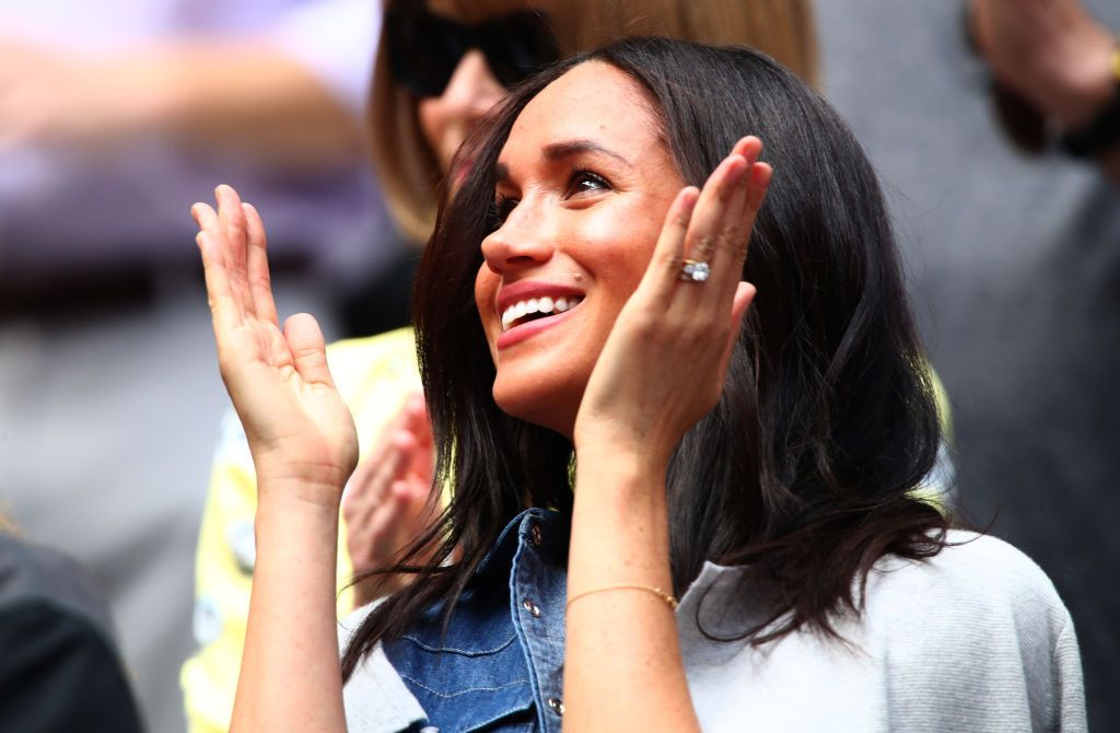 The Duchess of Sussex cheers on Serena Williams at the US Open Final