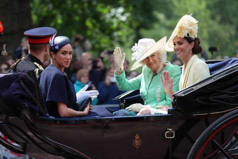 The Duchess of Cornwall joins Kate and Meghan at Trooping the Colour 2019