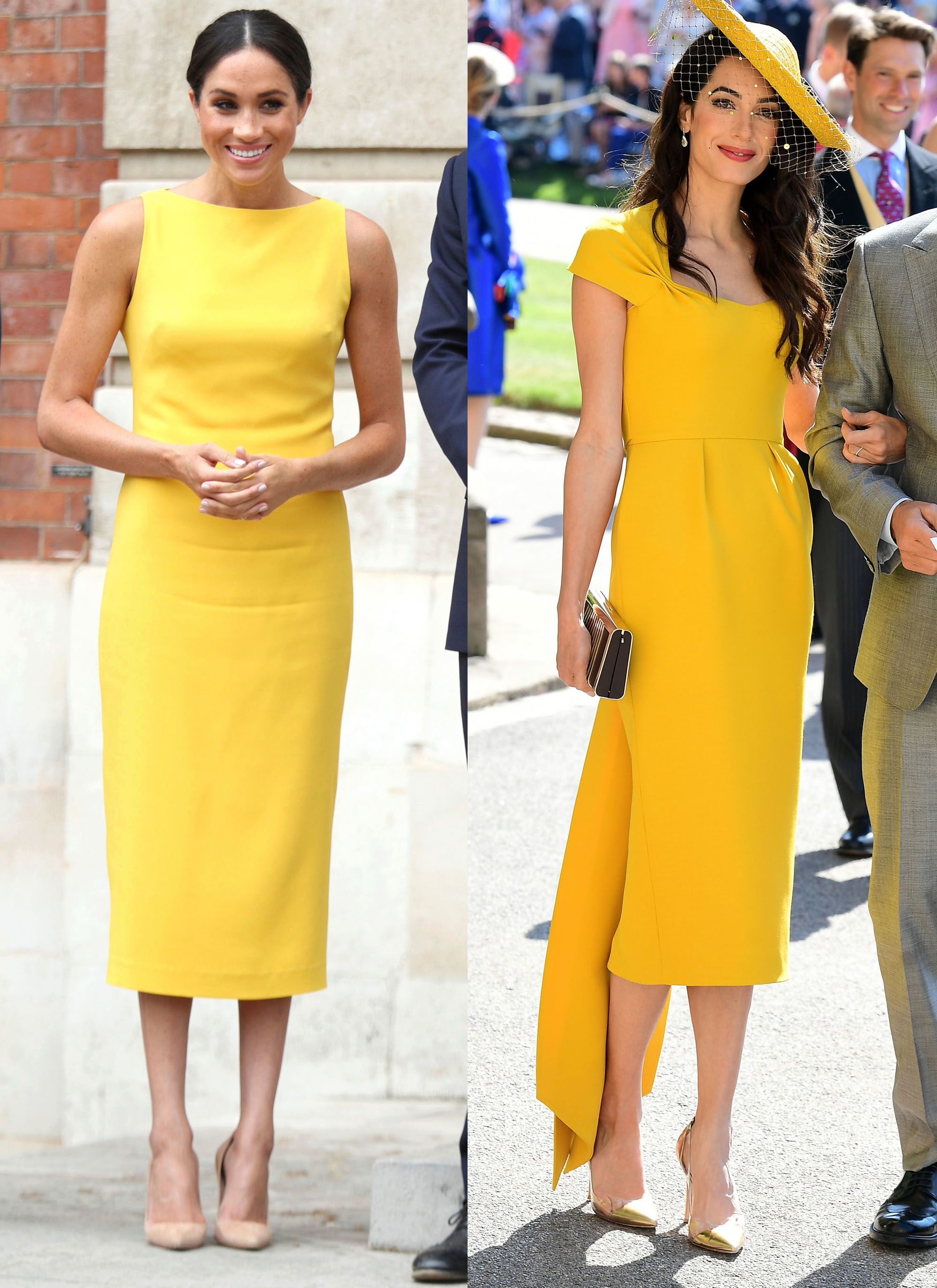 Meghan Markle S Yellow Brandon Maxwell Dress Was The First Male