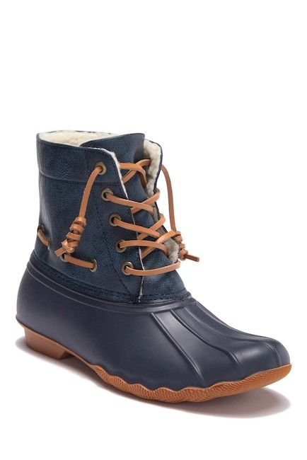 fall and winter boots - seven7 Deanston Faux Fur Lined Duck Toe Boot