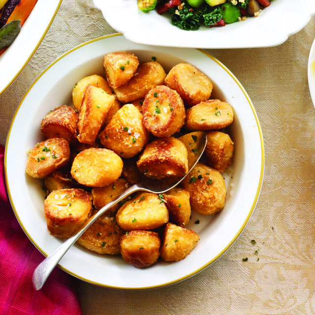 duck fat roast potatoes with sage salt