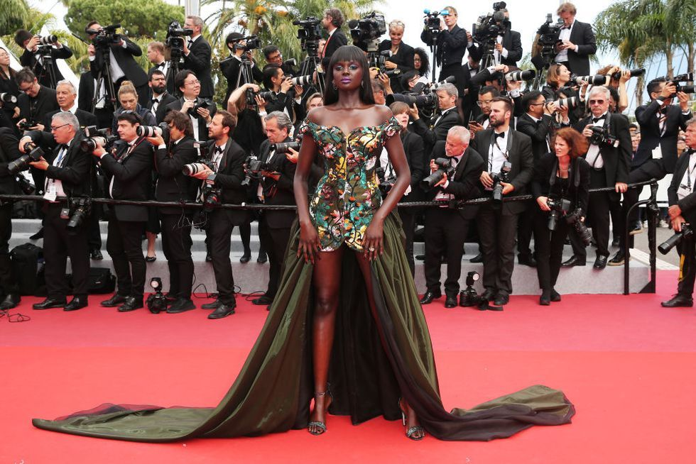 Duckie Thot In Vivienne Westwood Couture at the Once Upon a Time in Hollywood premiere on May 21, 2019.