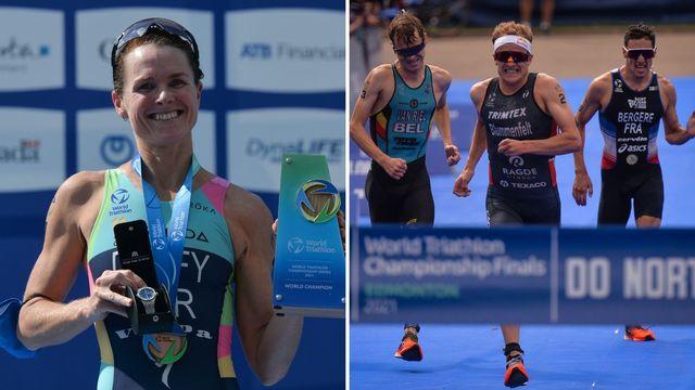 flora duffy y kristian blummenfelt, dobles ganadores olímpicos y mundiales en el mismo año