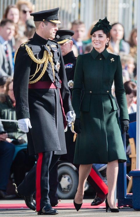 The Duke and Duchess of Cambridge attend the St Patrick's Day parade