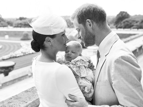 Who have Harry and Meghan choose as Archie's godparents?