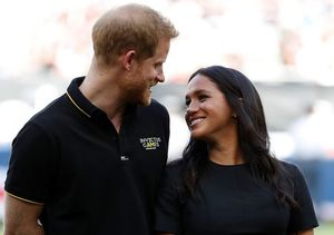 Duke and Duchess of Sussex at London Olympic Park