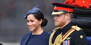 The Duke and Duchess of Sussex at Trooping the Colour 2019 parade
