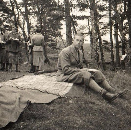 The Duke of Edinburgh enjoys a picnic at the Balmoral estate.