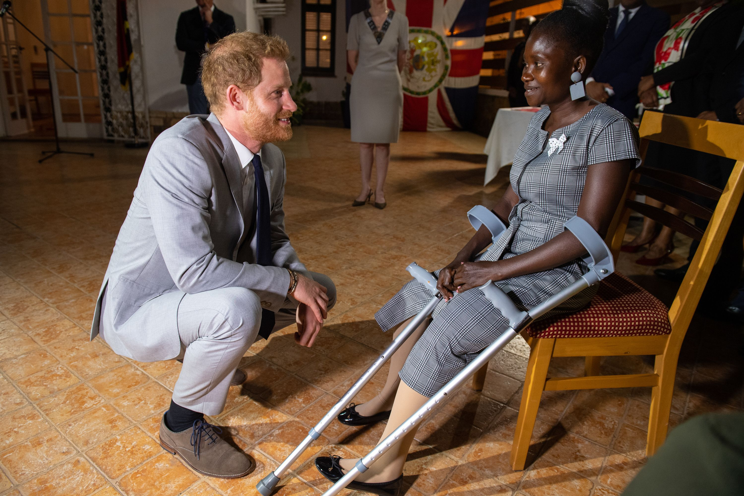 Prince Harry reunites with minefield survivor who famously met Princess Diana