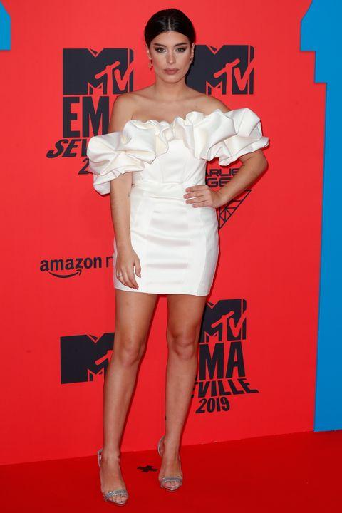 Dulceida  en la alfombra roja de los MTV Europe Music Awards celebrados en Sevilla