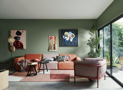dulux sage green living room
