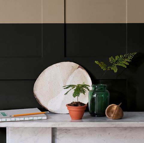 dulux 'brave ground' on wall panelling